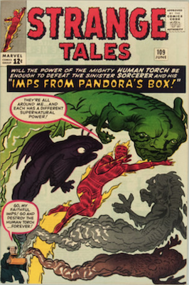 Strange Tales #109 is the first appearance of Sersi. Click to buy