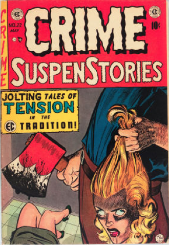 There are many gruesome EC comics, including this classic severed head cover on Crime SuspenStories #22. Click for value