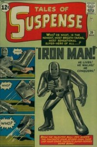 Tales of Suspense #39 (1963). Origin and first appearance of Iron Man (silver suit)