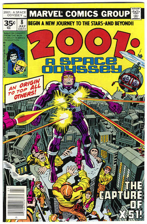 KEY ISSUE! 2001: A Space Odyssey #8: Origin and First Appearance of Machine Mane. Marvel 35 Cent Price Variant