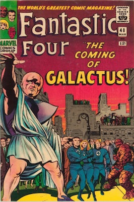 Fantastic Four #48, March, 1966: First Appearance of the Silver Surfer. Click for values