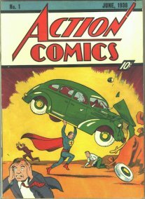 Action Comics #1 was the first of the DC Universe comics, introducing Superman. Click for rare comic book price guides