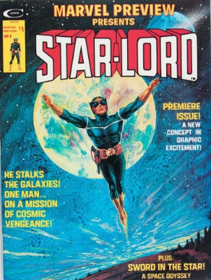 The obscure Marvel magazine-format comic book called Marvel Preview #4, the first appearance of Star-Lord. Click for value