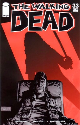 Walking Dead comic #33 first printing, red cover