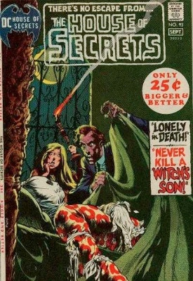 Click to see the value of the Bernie Wrightson cover-art for House of Secrets #93