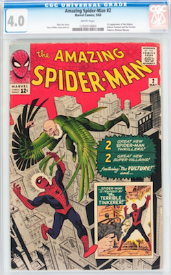 Amazing Spider-Man 2 is a book often sent to CGC Comics to be certified