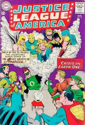 Justice League of America #21: JSA returns in the Silver Age. Click for values