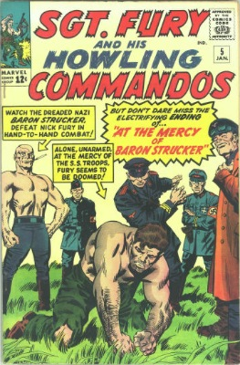Baron Strucker (First Appearance: Sgt. Fury and His Howling Commandos #5, January, 1964). Click for value