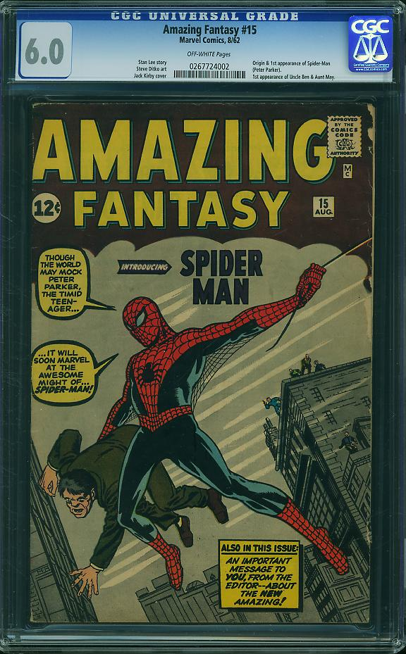 Amazing Fantasy #15. Bought as part of a $65,000 collection