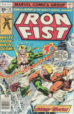 Iron Fist #14: Rare 35c Price Variant. Click for value