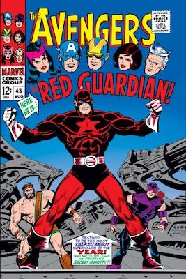 NEW ENTRY! Hot Comics 2020 #50: Avengers 43, 1st Red Guardian. Click to buy a copy