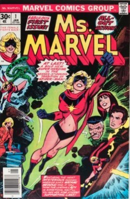 100 Hot Comics #25: Ms Marvel 1, 1st Carol Danvers as Ms. Marvel. Click to buy a copy