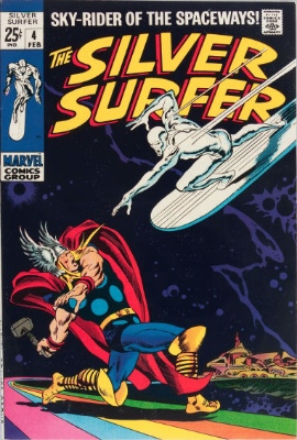 Hot Comics #62: Silver Surfer 4, Classic Battle With Thor. Click to order a copy