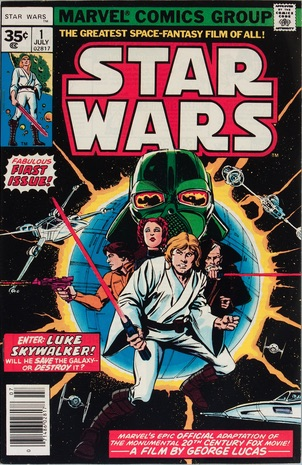 Hot Comics #15: Star Wars #1, Rare 35c Price Variant. Click to buy a copy