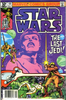 Hot Comics #96: Star Wars #49, Last Jedi Storyline. NEW ENTRY FOR 100 HOT COMICS 2017. Click to buy a copy