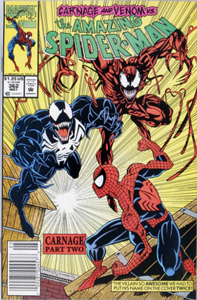 Amazing Spider-Man #362: 2nd Carnage Marvel comic. Click for values