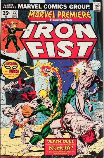 Marvel Premiere #22 (June, 1975): Iron Fist. Click for values