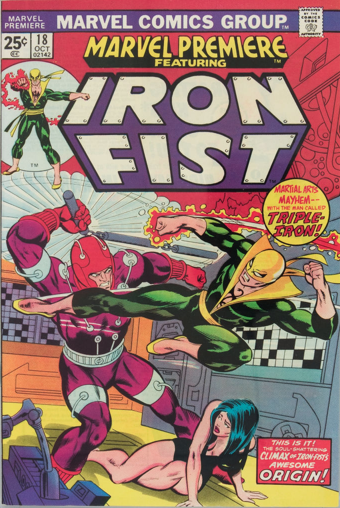 Marvel Premiere #18 (October, 1974): Iron Fist. Click for value