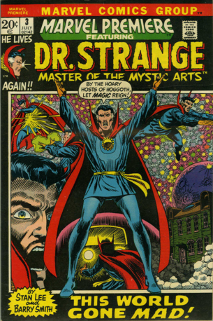 Marvel Premiere #3 (July, 1972): Dr. Strange. Click for values