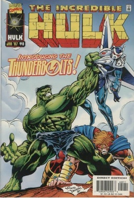Hot Comics #74: Incredible Hulk #449, 1st Appearance of Thunderbolts. NEW ENTRY FOR 100 HOT COMICS 2017. Click to buy a copy