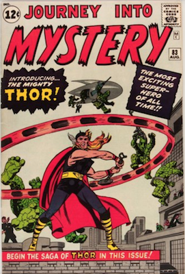 Journey Into Mystery #83 (August 1962): Origin and First Appearance, Thor. A valuable Silver Age comic book. Click for current prices
