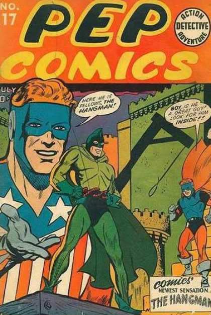 Pep Comics #17. Origin/1st appearance of The Hangman. Click for values