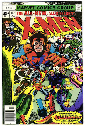 (Uncanny) X-Men #107 (1977): Rare 35 Cent Price Variant, 1st Starjammers. Click for values