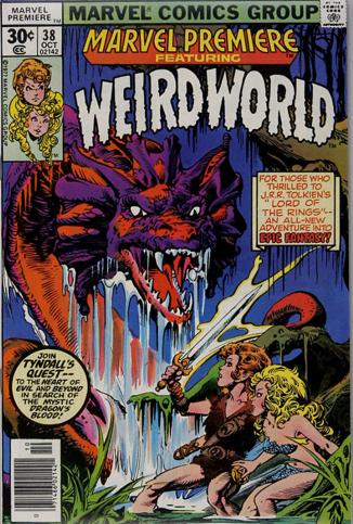 Marvel Premiere #38 (October, 1977): Weirdworld. Click for values