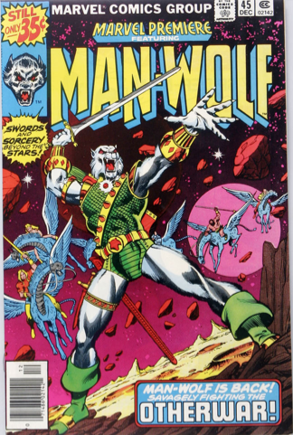 Marvel Premiere #45 (December, 1978): Man-Wolf. Click for values