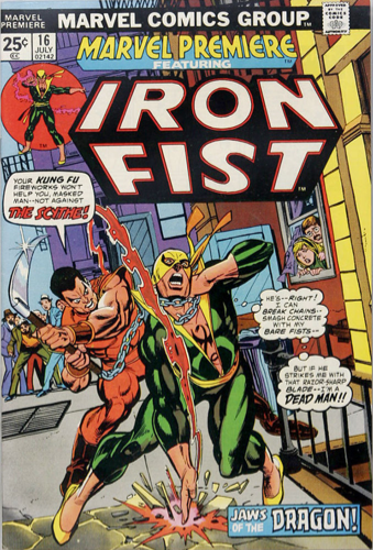 Marvel Premiere #16 (July, 1974) : Iron Fist. Click for values