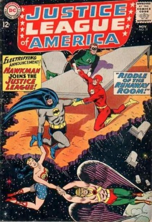 Justice League of America #31: Hawkman joins the JLA