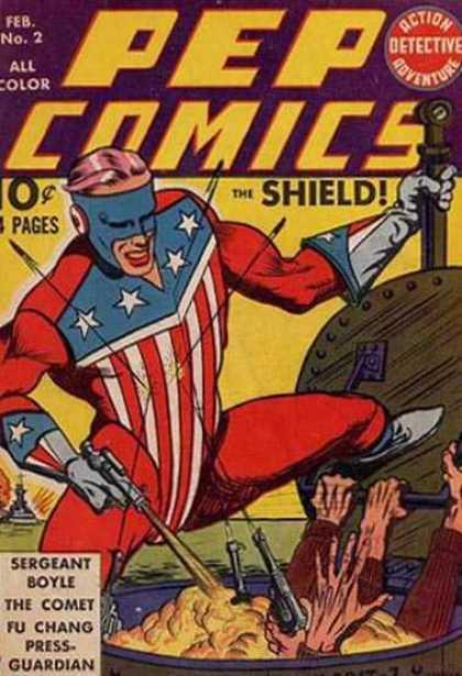 Pep Comics #2. Origin of The Rocket. Click for values