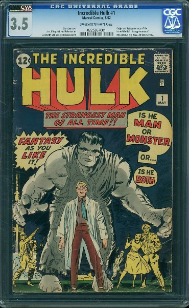 This grade of Hulk #1 in a CGC holder is pushing the $10,000 mark! Click to research prices
