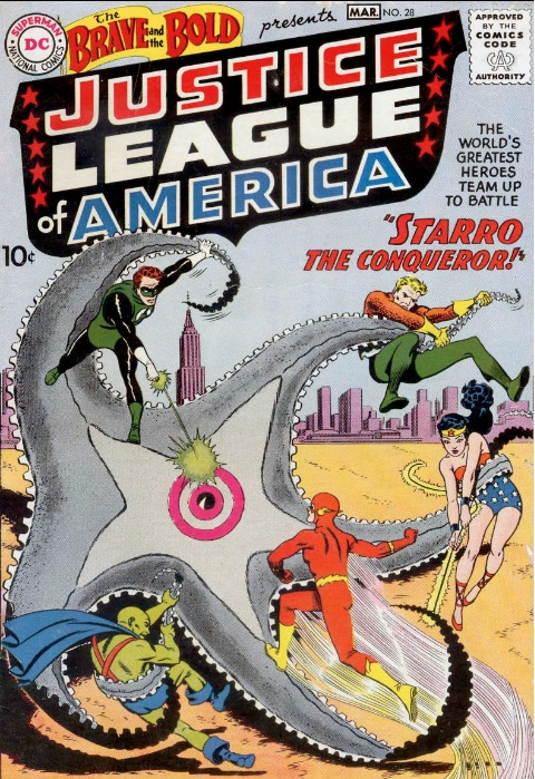Brave and the Bold #28 (March, 1960): J'onn J'onnz Joins The Justice League of America. Click for values