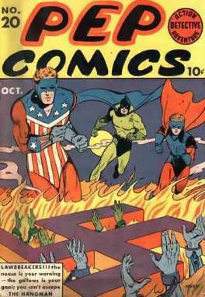 Pep Comics #20. Classic WW2 cover. Click for values