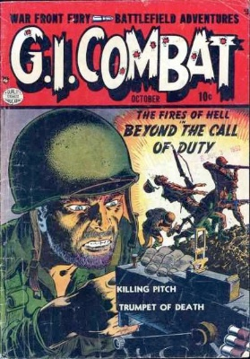G.I. Combat comic issue 1 from 1952. Click for values