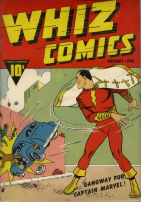 Whiz Comics #2(#1) (1940). Origin and first appearance of Captain Marvel, who was later renamed Shazam! by DC Comics for legal reasons. Click to research values