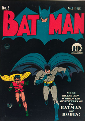 Batman #3. Record sale: $40,000. Click for values