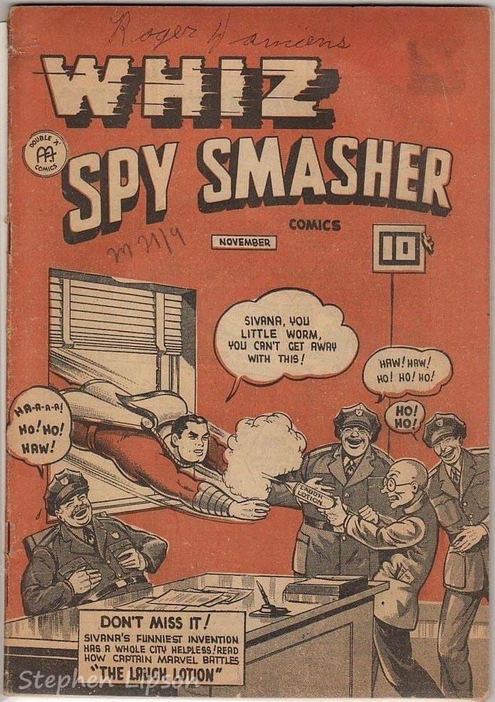 Canadian Whites: Whiz Spy Smasher comics v4 #11