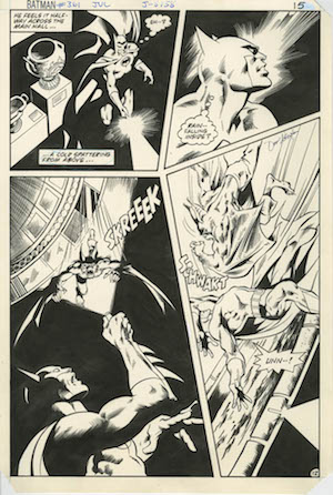 WAY COOL! We just got a pile of original artwork, mostly Batman and Detective pages. Click to see us original art!