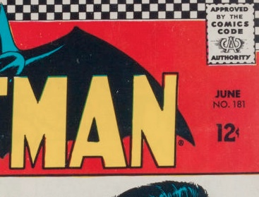 How to identify DC Comics: When DC printed issue #s on a darker background, it can be much more difficult to see them.