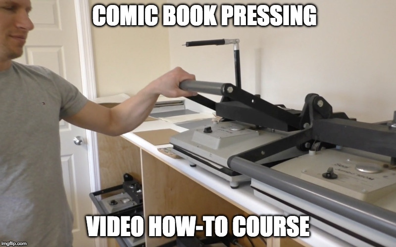 Save 60 PERCENT on our Comic Book Pressing Video Course