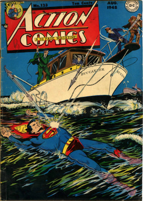 Action Comics #123: Superman flies for the first time. Click for values