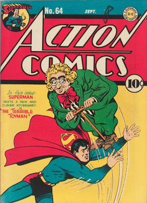 Action #64: First Appearance of Toyman. Click for values