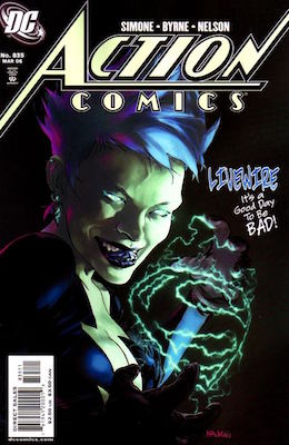 Action Comics #835: 1st Appearance of Livewire in DC Continuity. Click for values