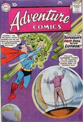 Adventure #271: Origin of Lex Luthor Retold. Click for values