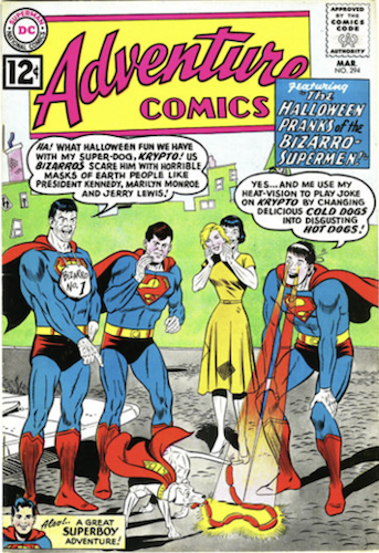 Adventure Comics #294: Bizarro Marilyn Monroe and Bizarro President John F. Kennedy by DC Comics. Click for values