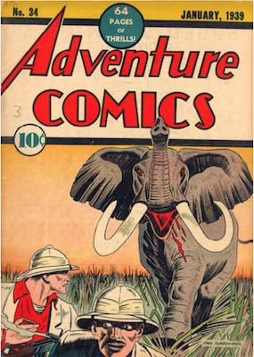 Adventure Comics #34. Click for values.