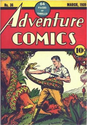 Adventure Comics #36. Click for values.
