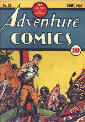 Adventure Comics #39. Click for values.